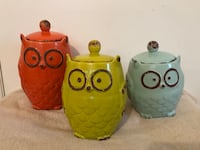Owl Kitchen Canisters  Cary, 27511