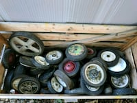 Lawn mower tires/wheels 2 for $1...All $25 Brunswick, 44212
