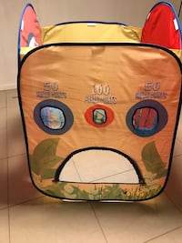 Yellow and blue minion print backpack