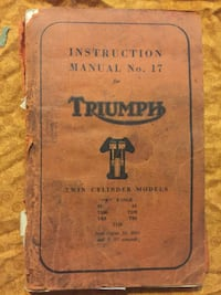 Old British motorcycle manuals  Greater Napanee