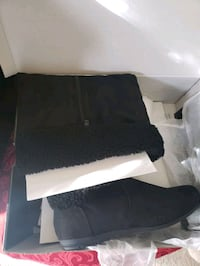Black suade boots *NEW*