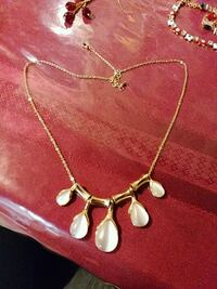 gold-colored necklace with white gemstones Hyattsville, 20783