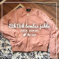 rosa zip-up brevman jakke