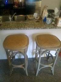 two brown wooden bar stools Henderson, 89074