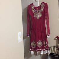 Women's red and gold long sleeve dress Burnaby, V5A 2S9