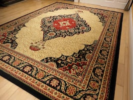New 5x8 area rug Black traditional rugs