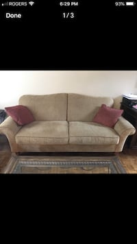 brown fabric 2-seat sofa Vaughan, L6A 4A1