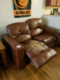 brown leather recliner sofa chair Sykesville, 21784