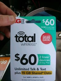 $60 Total wireless subscription card Springfield, 65803