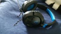 black and blue corded headphones Brampton