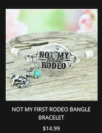 Not My First Rodeo Silver Tone Bracelet  Chesapeake, 23320