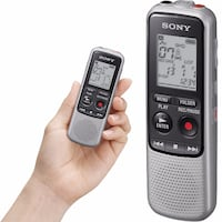 Sony ICD-BX140 MP3 Digital Voice IC Recorder with Built-in 4GB + 2 AAA Batteries