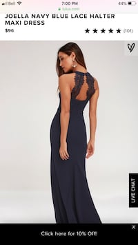Navy Maxi Formal Dress with lace back Burlington, L7P 1N4
