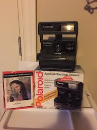 black Polaroid one-step camera with box Brock, L0K 1A0