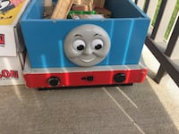 Wooden Thomas train tracks and holding bin Manchester, 17345