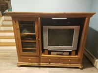 Solid Wood entertainment center and end table  Carle Place, 11514