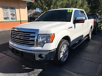 white Ford F-150 single cab pickup truck