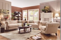 The Roy 2pc Tufted Nail Head Living Room Set Charlotte, 28216