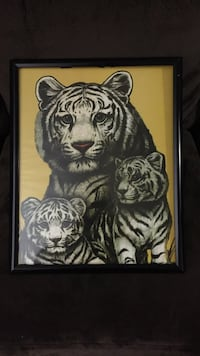 White and black tiger painting Damascus, 20872
