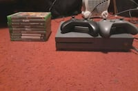 Xbox One S Console with games and controllers