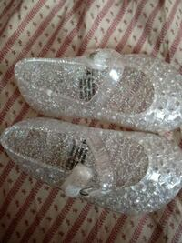 Clear jelly shoes size 4c