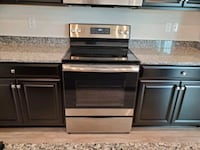 NEW GE Electric Smooth Top Range in Stainless Steel
