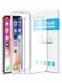 New Tempered Glass Screen Protector Designed for iPhone XS/ X (3 Pack)