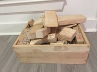 Wooden Blocks with wooden storage crate by Melissa and Doug Rockville, 20850