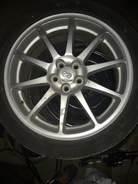 Gray multi-spoke vehicle wheel and tire Alexandria, 22304