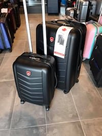 brand new luggage set of 2 26inch and 18 inch suitcases black hard case