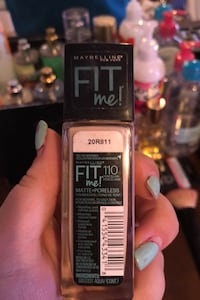 Maybelline Fit Me Foundation in shade 110 or Porcelain.  New Paris, 46553