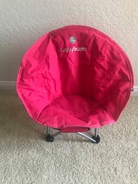Pink  beach kids chair with bag