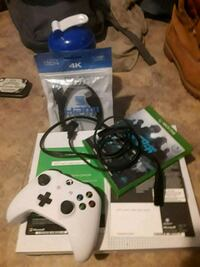 white Xbox One with two controllers Ottawa, K1N