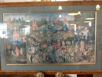 brown wooden framed painting of people Rockville, 20850