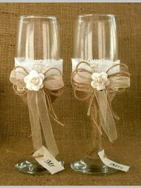 two white and brown floral party favors Toronto, M6B 2K5
