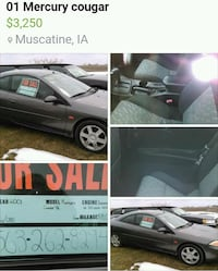 2001 Mercury Cougar with only 58k Muscatine