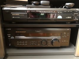 Sony Digital receiver, DVD/ CD changer, stand, sub- woofer for sale.