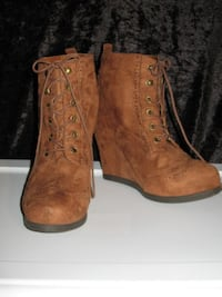 Ladie's Leather High-Heeled Boots WHITTIER