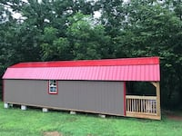 12x40 lofted barn deluxe shed