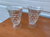 Real American Fostoria  Footed Juice glasses Springfield, 65804