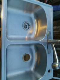 stainless steel sink with faucet 2283 mi