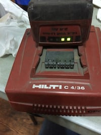 red and black hilti c 4/36 drill battery charger