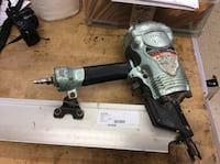 Hitachi framer nail gun NR90AES1 used .  Baltimore, 21205