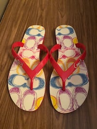 Brand new coach flip flops  Montreal, H1R 1R3
