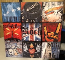 Rock n roll wall picture