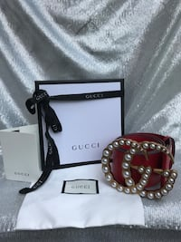 Authentic Leather Jumbo Gucci Belt (Women's) Silver Spring, 20904