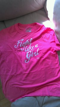 pink fight like a girl printed Under Armour crew-n Mississauga, L5M
