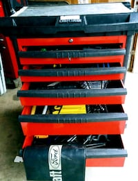 5 drawer tool chest with tools retired Master Tech