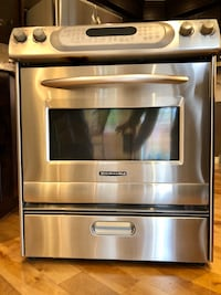 "Kitchen Aid 30"" range stove"