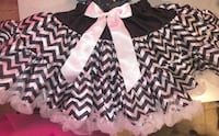 Toddlers black and white chevron print dress West Valley City, 84128